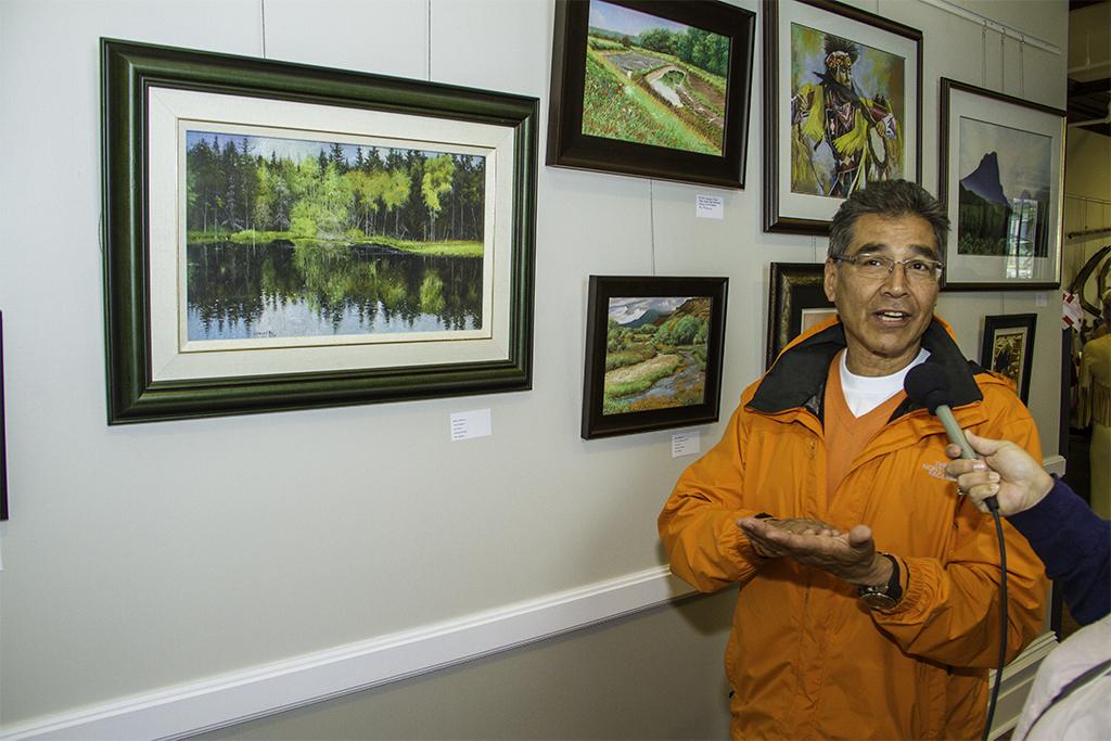 Mi'kmaq artist Leonard Paul