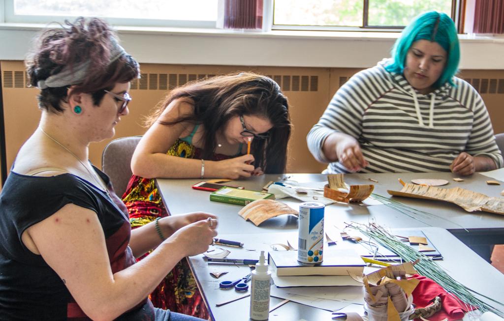 Participant Melissa Dempsey, far left