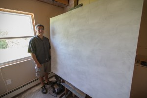 Leonard Paul at his home studio near Truro, N.S./Photo by Stephen Brake
