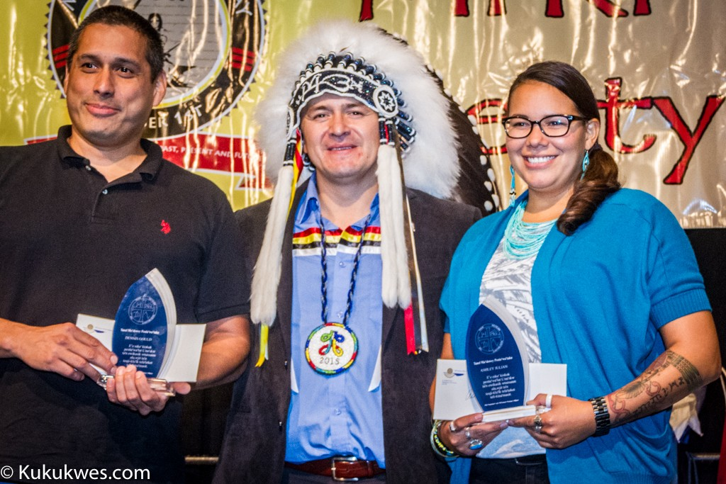 Recipients of the 2015 Grand Chief Donald Marshall, Senior Memorial Scholarship: Dennis Gould (left) and Ashley Julian/Photo by Stephen Brake