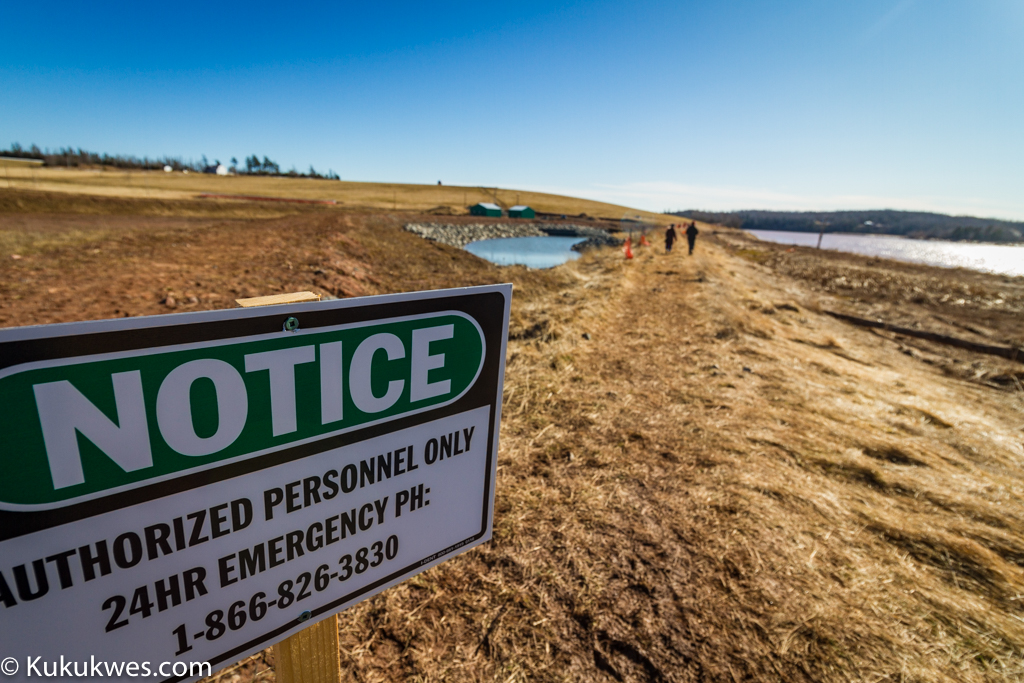 Sipekne'katik and Millbrook Mi'kmaw communities oppose Alton Gas's plan to store natural gas in salt caverns along the Shubenacadie River/Photo by Stephen Brake
