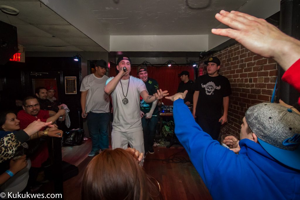 Rap group City Natives performing at The Capital in Fredericton, N.B. March 18/Photo by Stephen Brake