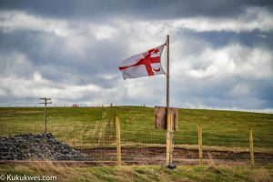 The fencing around Alton's natural gas storage construction site still remains/Photo by Stephen Brake