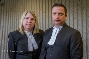 Crown attorneys Shauna MacDonald, left, and Rick Hartlen presented the crown's case against Hayes during the four-week trial/Photo by Stephen Brake