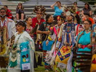 More than 2,000 people attended Eskasoni's 25th annual Powwow July 1-3, 2016/Photo by Stephen Brake