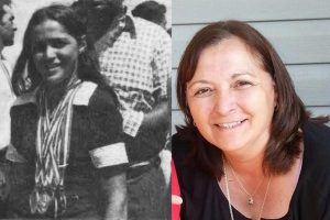 Eleanor Bernard won 12 medals at the 1975 Maritime Native Summer Games in Indian Brook, N.S./Photos by Micmac News archives and Eleanor Bernard