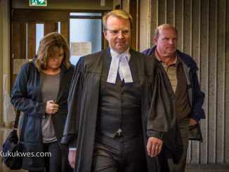 Jeffrey Cecil Hayes, right, with his lawyer, Luke Craggs, centre, arrive at Nova Scotia Supreme Court in Halifax for his sentencing hearing/Photo by Stephen Brake