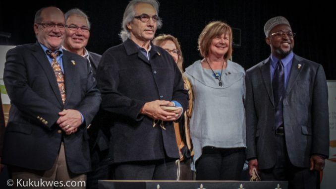 Former AFN National Chief Phil Fontaine, second from left in front, is named in a lawsuit filed by the Sipekne'katik Band/Photo by Stephen Brake